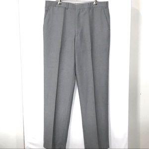 VINTAGE CITY CLUB 14 Light Grey Wool Wide Leg Pant